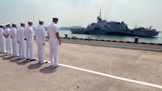 Glitch-ridden US advanced warship pier-side ahead of Singapore drills