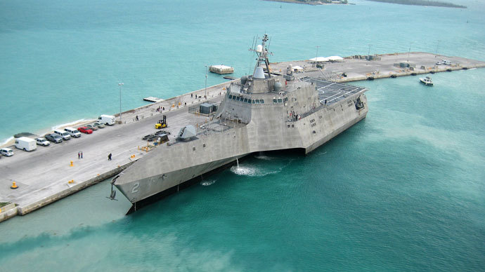 USS Independence.(AFP Photo / Nicholas Kontodiakos)