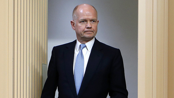 British Foreign Secretary William Hague (AFP Photo / Suzanne Plankett)