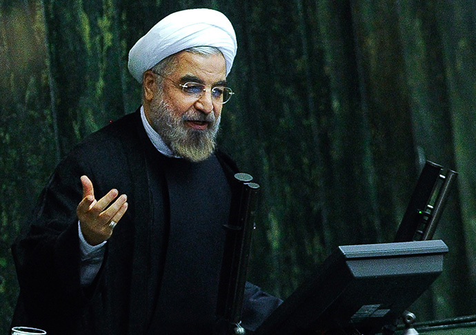 A picture obtained from Iran's ISNA news agency shows Iranian President Hassan Rouhani (AFP Photo / Borna Ghasemi)