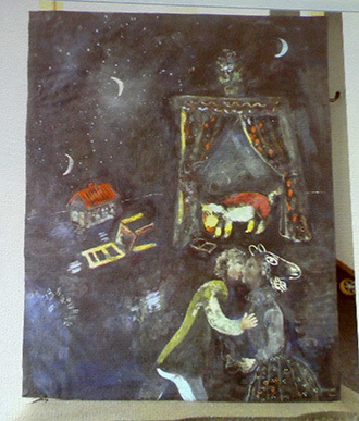 A formerly unknown painting of French artist Marc Chagall (Reuters / Michael Dalder)