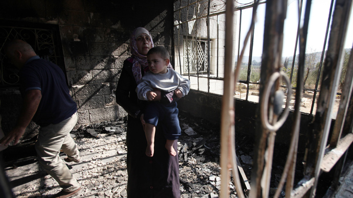 Five Palestinian children injured after Israeli settlers set fire to their home