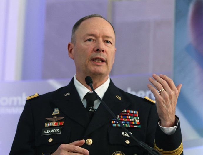 U.S. Army Gen. Keith Alexander, director of the National Security Agency and commander of U.S. Cyber Command (Mark Wilson/Getty Images/AFP)