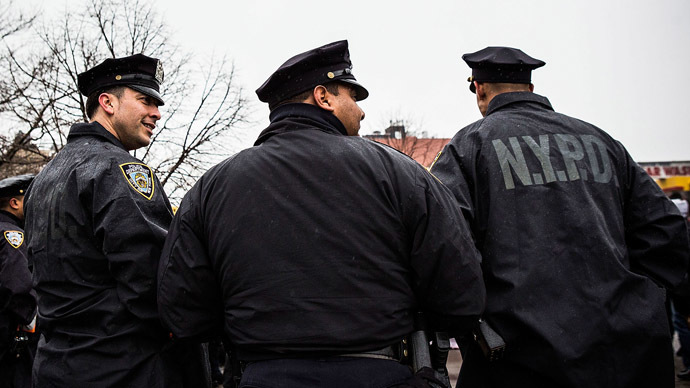 New York Police Department officers (Andrew Burton/Getty Images/AFP)