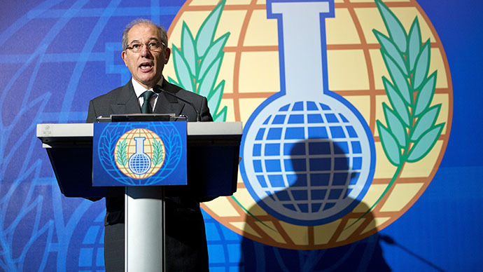 OPCW adopts new Syria chem weapons plan after Albania refuses to host stockpile dismantling