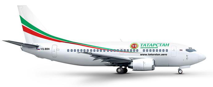Boeing 737-500 (Image from www.tatarstan.aero)