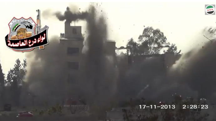 4 Syrian generals among 31 dead in rebel bomb attack (VIDEO)