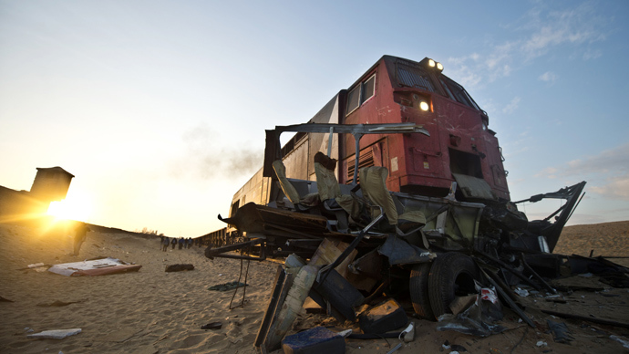 At least 24 killed after train collides with mini-bus, truck in Egypt