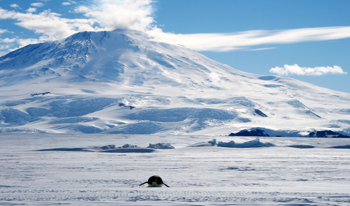 Mount Erebus, Ross Island, Antarctica (Reuters / Deborah Zabarenko)