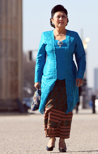 Kristiani Herawati, the wife of Indonesian President (AFP Photo / Adam Berry)