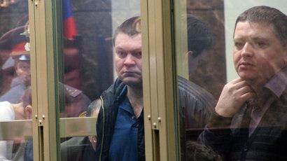 In the dock: Sergey Tsapok (left) and Vyacheslav Tsepovyaz.(RIA Novosti / Tatyana Kuznetsova)