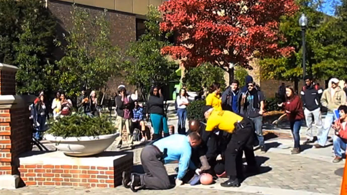 UTC student maced and arrested for protesting preacher on campus (VIDEO)
