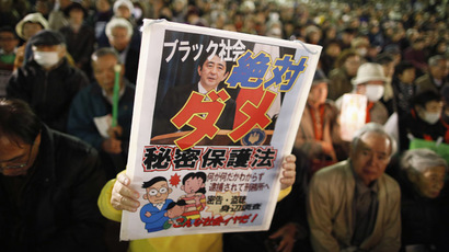 ​Japan parliament panel overrules protest to pass divisive state secrets bill