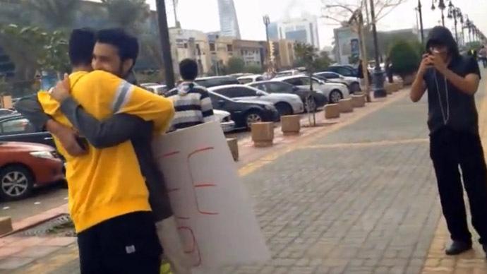 2 Saudi men arrested for offering free hugs