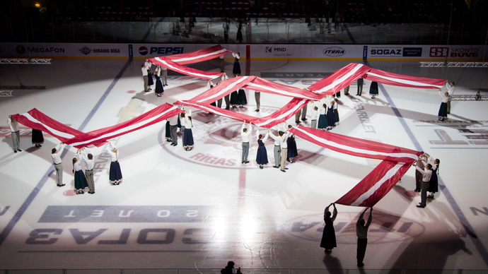 Swastika on ice? Latvian solar symbol stunt causes outrage in Russia