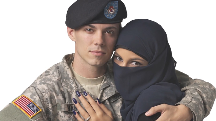 'Uncomfortable imagery'? Times Square ad depicting US soldier embracing Muslim woman rejected