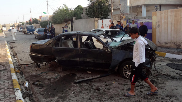 Twin bombings hit Shiite mosque in northern Iraq