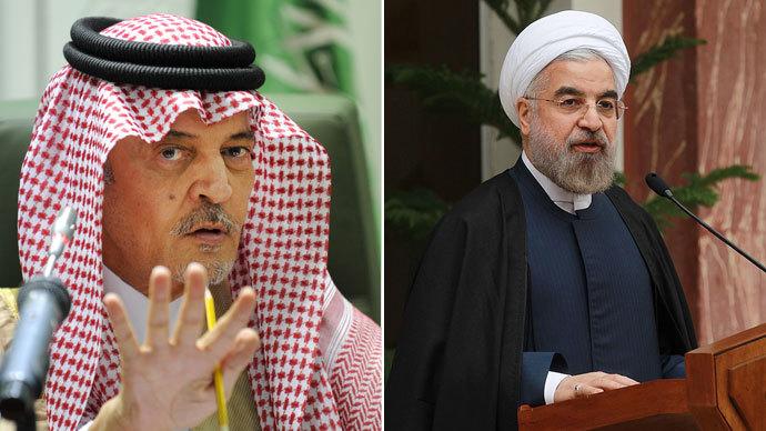 Saudi foreign minister Prince Saud al-Faisal, Iranian President Hassan Rouhani.(AFP Photo / Fayez Nureldine / Iranian Presidency)