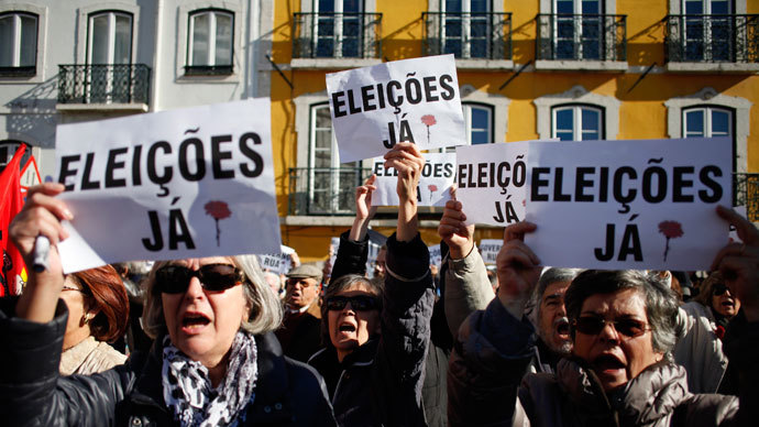 Portugal adopts tough austerity budget amid massive protests