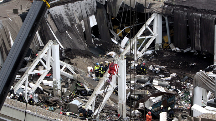 A supermarket collapse killed 54 in the capital Riga (RIA Novosti)
