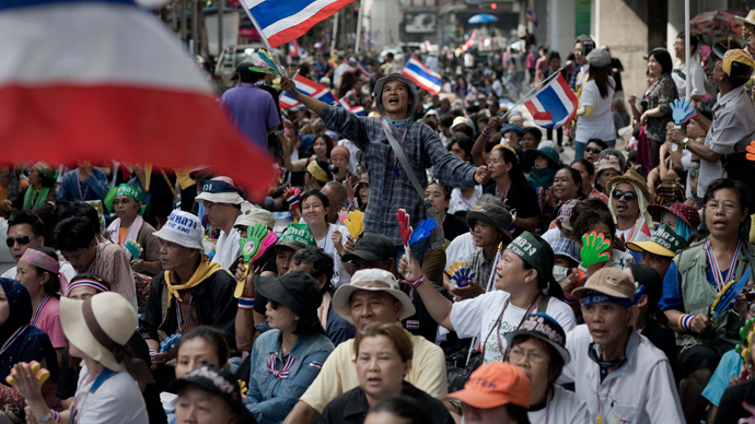 Thai protesters cut lights to national police force, PM calls for talks