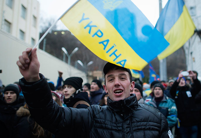 Supporters of Ukraine's European integration in a detention center in Kiev, where they are being held for involvement in disorders on December 4, 2013. (RIA Novosti / Iliya Pitalev)