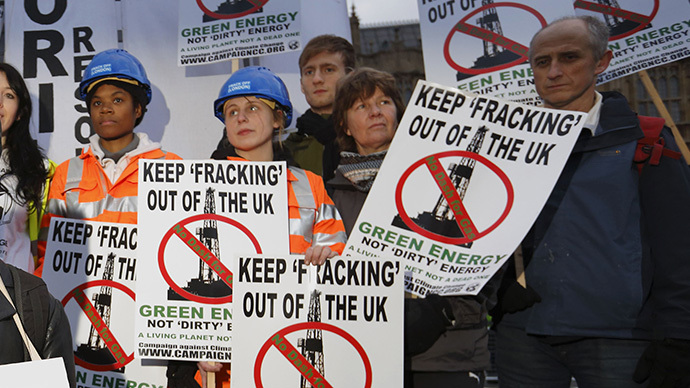 Resident fury as UK firm begins shale gas test drilling in Greater Manchester