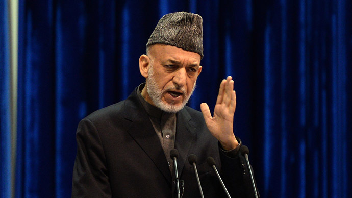 Afghan President Hamid Karzai (AFP Photo/Massoud Hossaini)