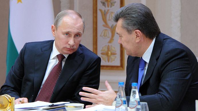 Presidents of Russia and Ukraine Vladimir Putin (L) and Viktor Yanukovych (RIA Novosti/Michael Klimentyev)