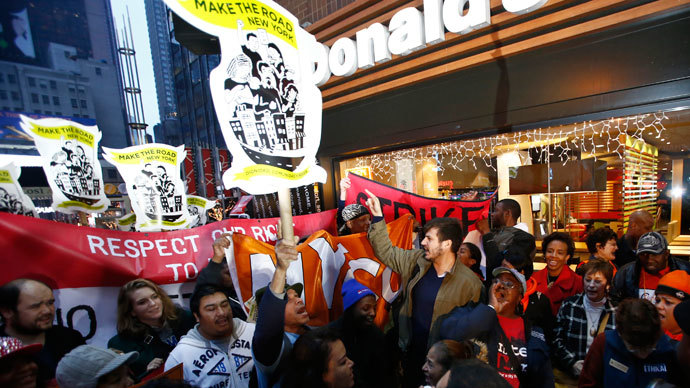 Fast-food workers walk off: LIVE UPDATES