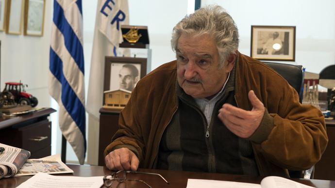 Uruguayan President Jose Mujica (AFP Photo / Daniel Caselli)