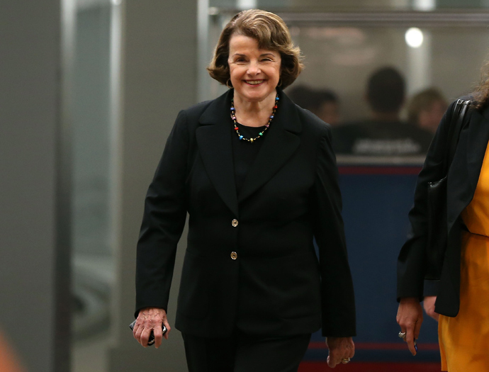 Diane Feinstein (D-CA) (AFP Photo / Mark Wilson)