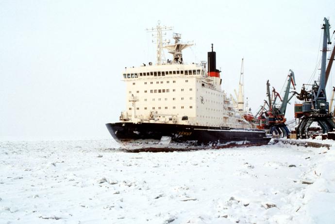 The nuclear icebreaker Taimyr (RIA Novosti / Igor Mikhalev)
