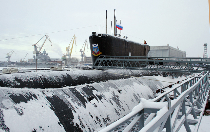 The Yury Dolgoruky nuclear-powered submarine (RIA Novosti / Pavel Kononov)