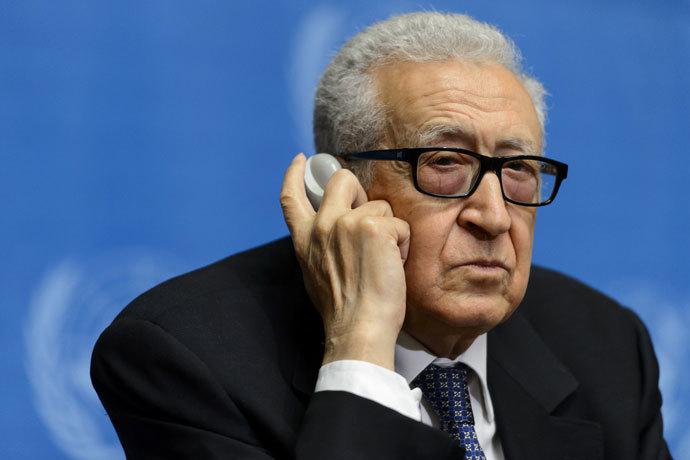 UN and Arab League mediator Lakhdar Brahimi.(AFP Photo / Fabrice Coffrini)