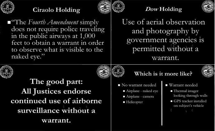 The obtained FBI presentation slides