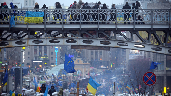 Ukraine bans foreigners for 'security reasons' as protests continue