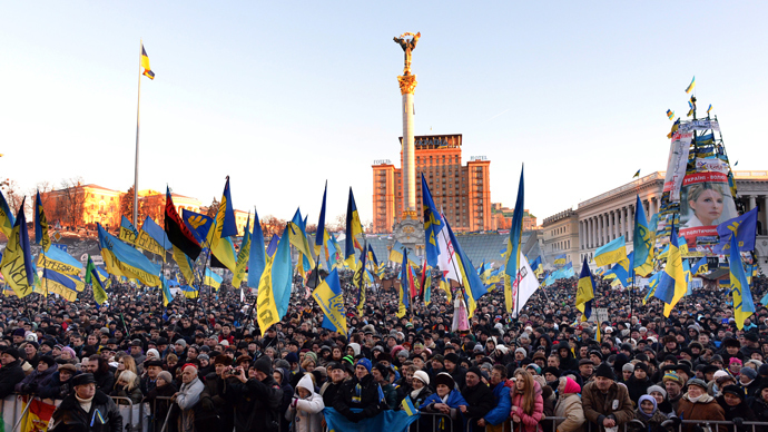 Rival rallies continue in Kiev as Western meddling increases