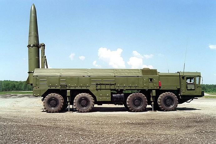 An Iskander-E short-range ballistic missile launcher. (RIA Novosti/kbm engineering design bureau)