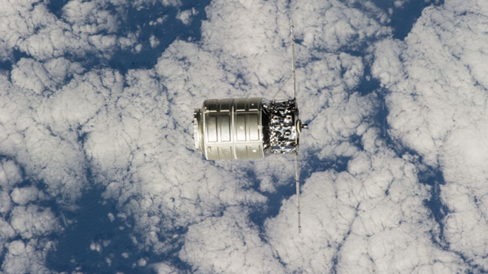 The First Cygnus Commercial Cargo Spacecraft (Image from NASA)
