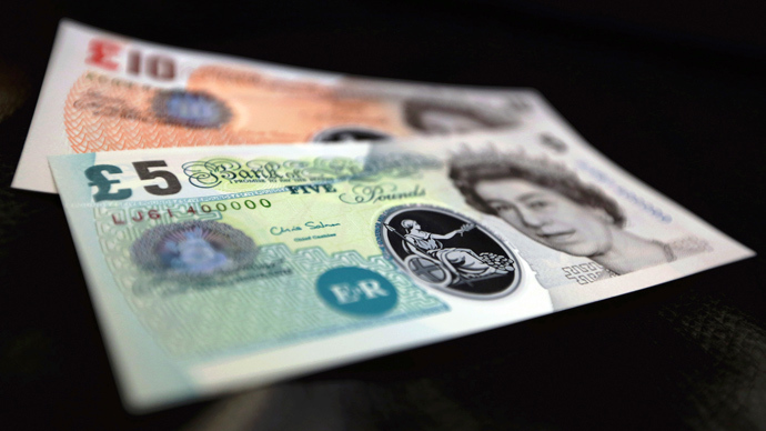 British pound notes to become plastic from 2016
