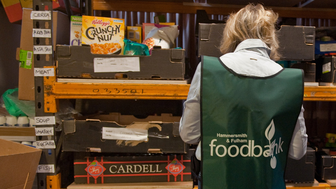 Nearly one million people relying on food handouts in UK
