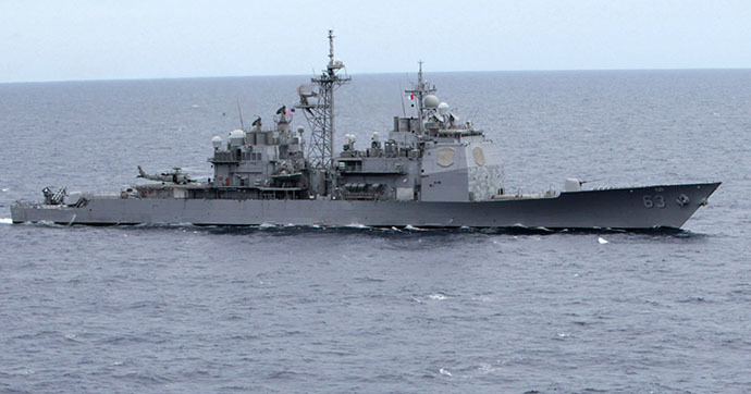The Ticonderoga-class guided-missile cruiser USS Cowpens (CG 63) (Reuters / Romeo Ranoco)