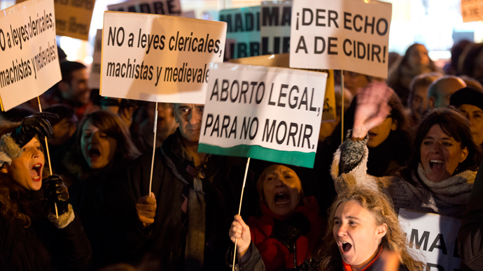 ​Spain pushes for harsh law on abortions, sparking outrage