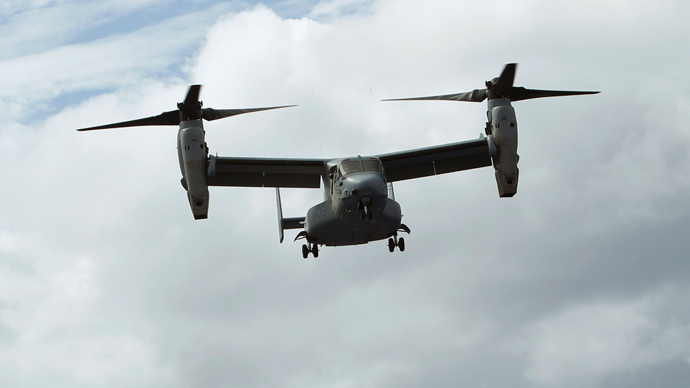 An US Osprey aircraft (Reuters / Edgar Su)