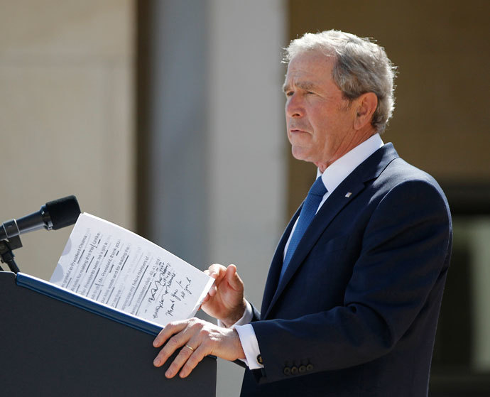 Former U.S. President George W. Bush.(Reuters / Jason Reed)