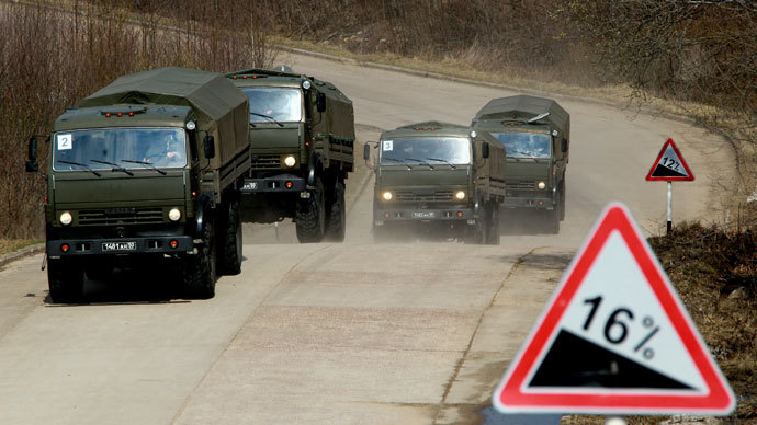 Russia sends 75 combat vehicles to Syria to transport chemical weapons