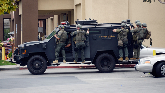 Californians outraged after police acquire military armored vehicle to patrol city