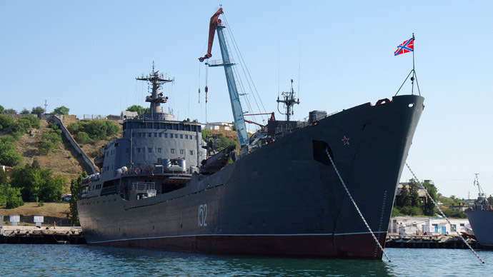"The Black Sea Fleet's landing craft ""Nikolai Filchenkov"" (RIA Novosti/Vasiliy Batanov)"
