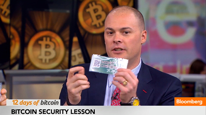 Bloomberg anchor displays bitcoin on TV, immediately gets robbed by viewer
